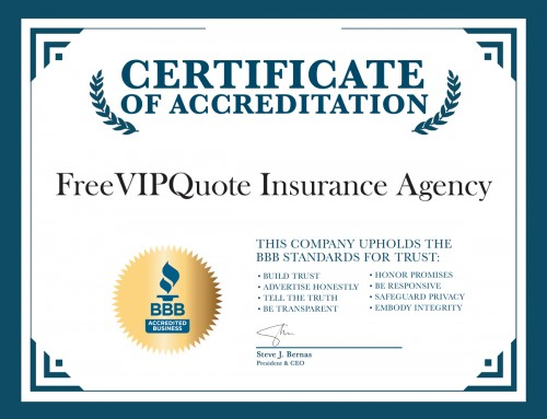 FreeVIPQuote Insurance Agency earns BBB accreditation
